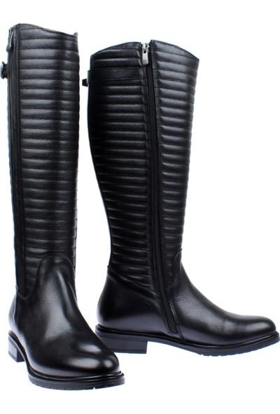 Venüs Hakiki Deri Kadın Çizme Vns 20706 Siyah