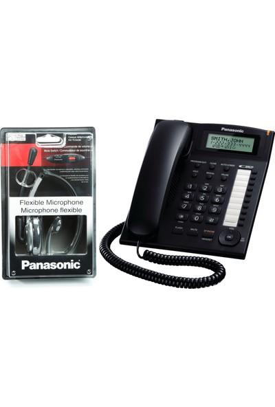 Panasonic KX-TS880 Masaüstü Telefonu ve Panasonic KX-TCA430 Mikrofonlu Kulaklık Seti
