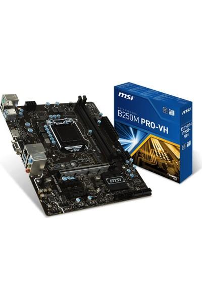 MSI B250M PRO-VH DDR4-2400 VGA HDMI GLAN M2 SATA 6GB/S. USB3.1 mATX