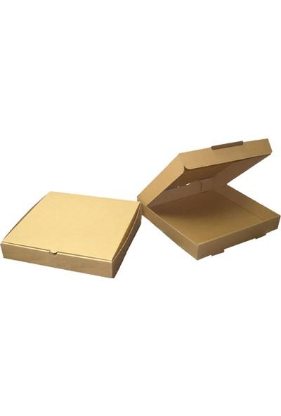 Kolievi Kapaklı Kutu (50 Adet) 25x25x3,5cm - (0.73)