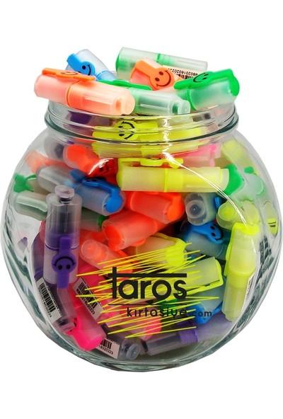 Taros Gülenyüz Mini Fosforlu Kalem Farklı Renkler