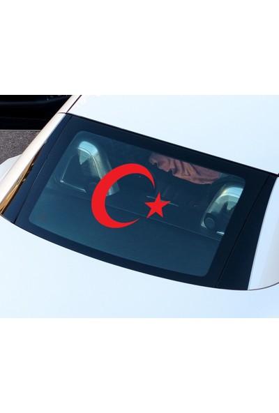Türk Bayrağı Oto Sticker - 30x24 cm