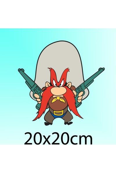 Sam - Oto Sticker - 20x20 cm