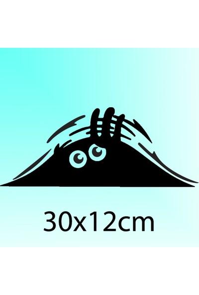 Bagajdan Bakan Adam - Oto Sticker - 30x12 cm Siyah