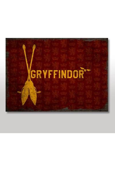 Tablomega Ahşap Tablo Harry Potter Gryffindor Bayrak