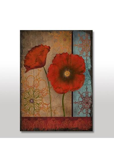 Tablomega Ahşap Tablo Gelincik Çiçeği