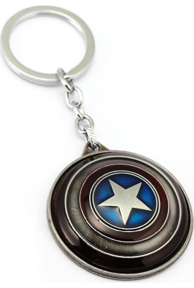 Modaroma Captain America Gümüş Renk Kalkan Anahtarlık