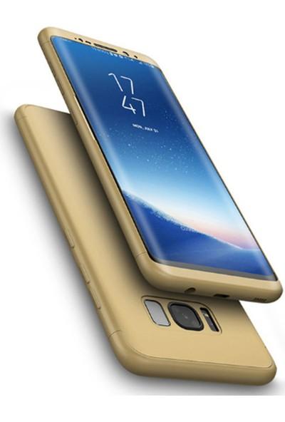 CoverZone Samsung Galaxy S8 Plus Kılıf 3 in 1 360 Sert Koruma
