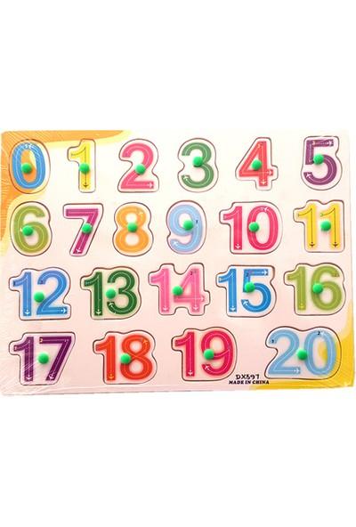 Wooden Toys Ahşap Tutmalı Puzzle - Sayılar