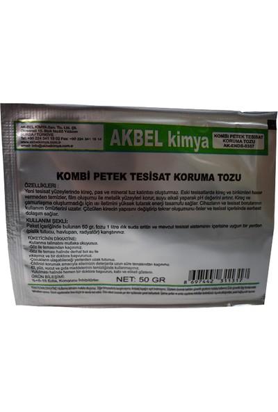 Akbel Kombi Petek Tesisat Koruma Tozu 12 Paket + Ölçü Kabı