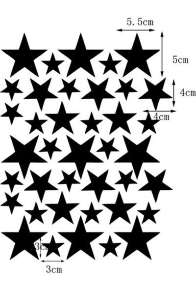 Decolight Pembe Yıldız Yağmuru Sticker