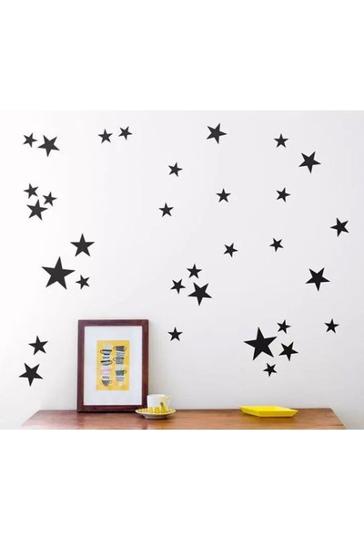 Decolight Siyah Yıldız Yağmuru Sticker