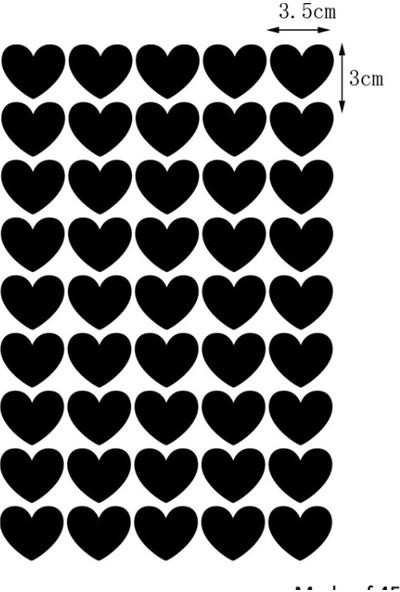 Decolight Siyah Kalp Yağmuru Sticker