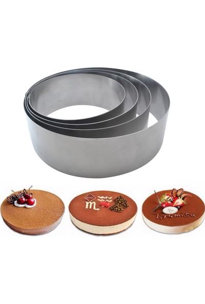 Narkalıp Yuvarlak Çember Kek Pasta Kalıbı 4'lü Set 10 Cm