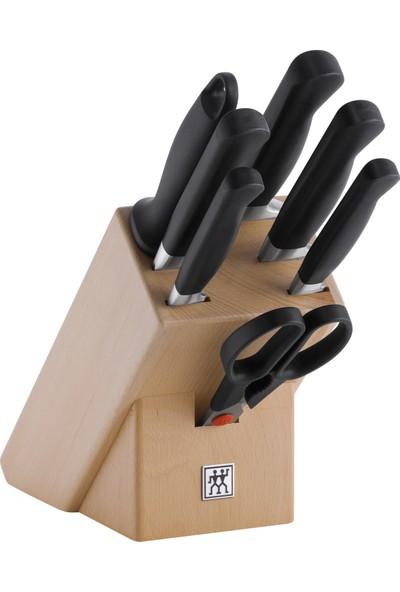 Zwilling 8 Parça Blok Bıçak Seti - Doğal Ahşap Bloklu