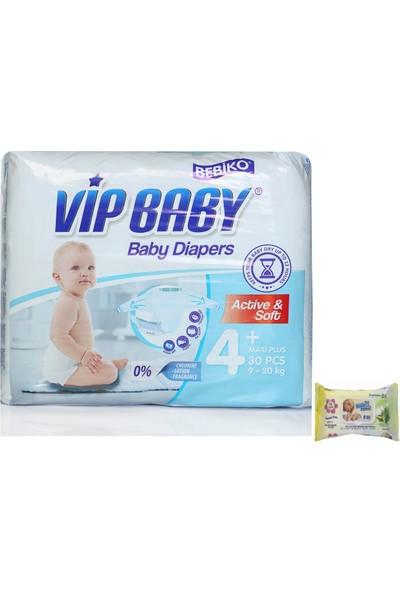 Bebiko Vip Baby Bebek Bezi Active & Soft Maxi Plus 4 Beden 30 Adet