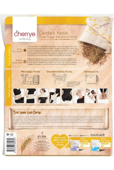 Cherrye Sıcak/Soğuk Rahatlama Yastığı - Çavdarlı
