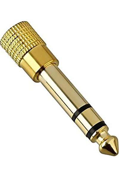 Hadron Kulaklık Ve Mikrofon İçin 3,5Mm To 6,3 Mm Dönüştürücü Metal Stereo Jak