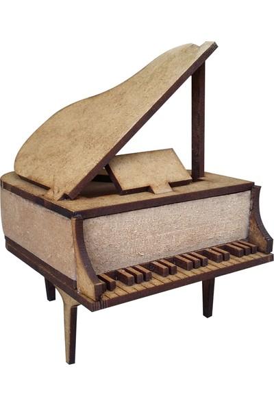 Okutan Hobi My11 Minyatür Üç Ayaklı Piyano Ahşap Obje