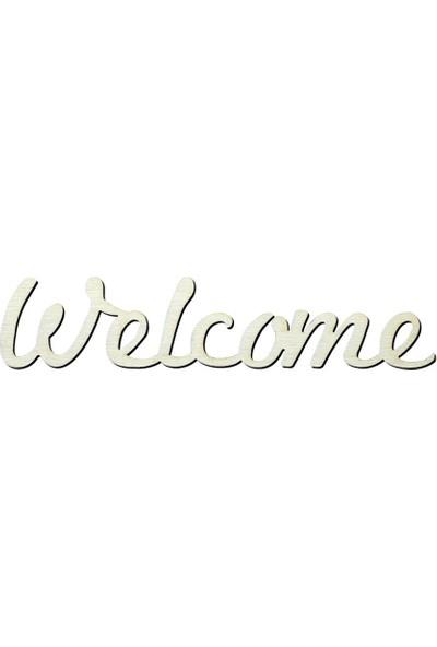 Okutan Hobi Y7 Welcome Yazısı Ahşap Obje