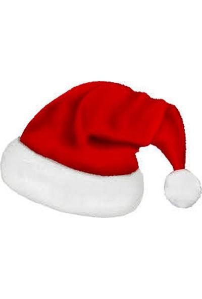 Shecco Babba Yılbaşı Özel Noel Baba Şapkası Kaliteli Polar 6-9 Ay