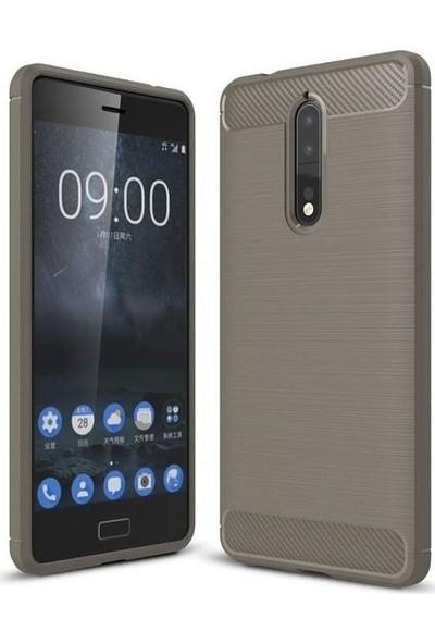 Teleplus Nokia 8 Özel Karbon ve Silikonlu Kılıf