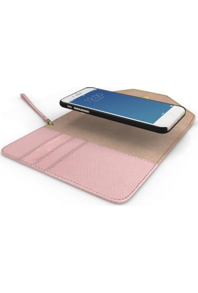 Ideal Of Sweden Mayfair Clutch iPhone 8-7-6S-6 Pink Kılıf + Arka Kapak