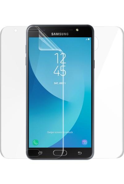 Microsonic Samsung Galaxy J7 Max Ön + Arka Kavisler Dahil Tam Ekran Kaplayıcı Film
