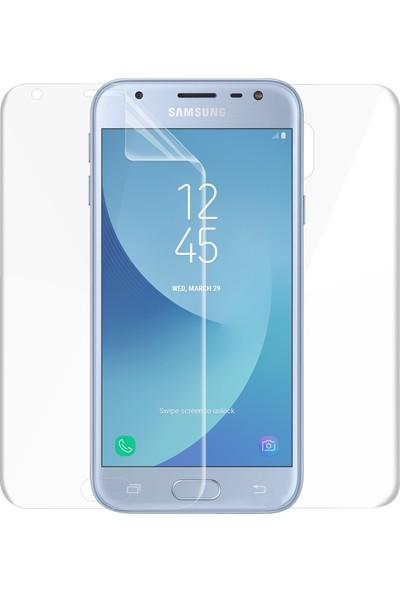 Microsonic Samsung Galaxy J3 Pro Ön + Arka Kavisler Dahil Tam Ekran Kaplayıcı Film