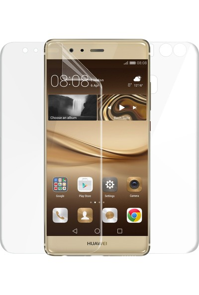 Microsonic Huawei P9 Ön + Arka Kavisler Dahil Tam Ekran Kaplayıcı Film