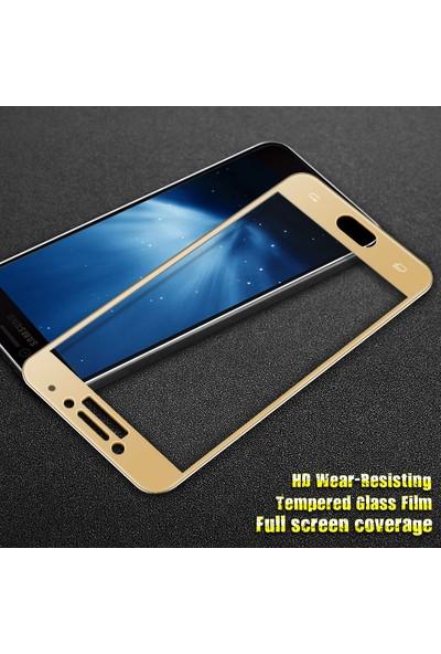 Microsonic Samsung Galaxy C7 Pro 3D Kavisli Temperli Cam Full Ekran koruyucu Film
