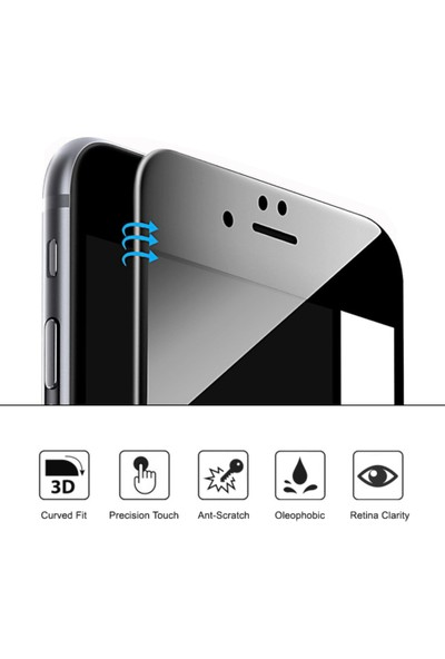 Microsonic Samsung Galaxy C5 Pro 3D Kavisli Temperli Cam Full Ekran koruyucu Film