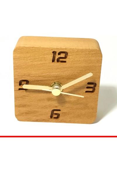 Ahşap Masa Saati