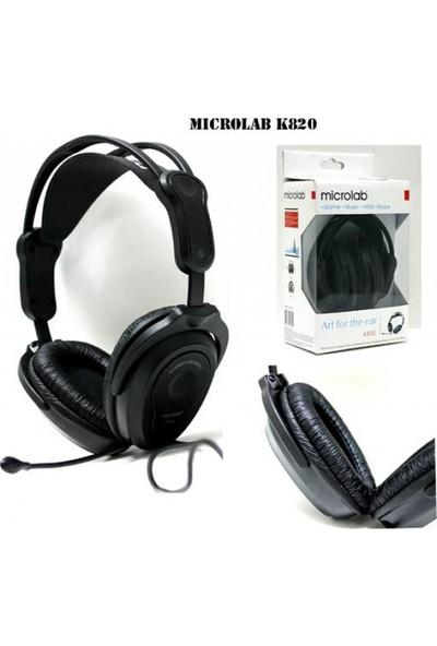 Microlab K820 Siyah Mikrofonlu Kulaklık
