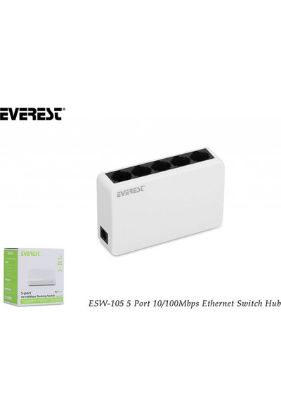Everest Esw-105 5 Port 10/100Mbps Ethernet Switch Hub