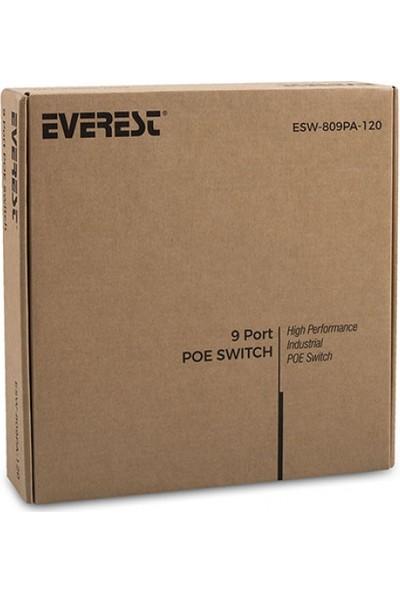 Everest Esw-809Pp-120 8+1 Port 120W Pasif Poe Switch