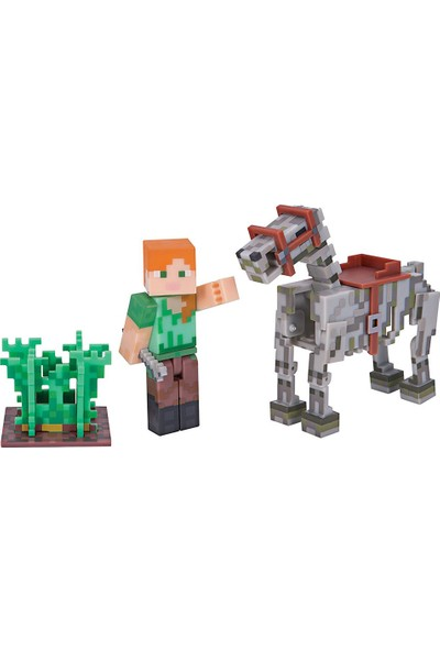 Minecraft Alex ve İskelet Atı