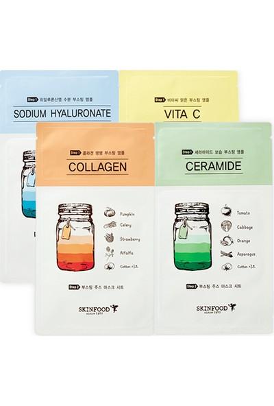 Skinfood Boosting Juice 2 Parçalı Tek Kullanımlık Yüz Maskesi (Seramid) 2.5ml+23ml