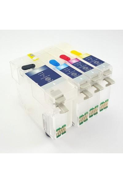 cescesor Epson 27XL (T2711-T2714) Uyumlu Kartuş Dolum Seti - 4 Renk