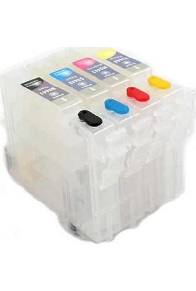 Cescesor Epson T0551-T0554 Uyumlu Kartuş Dolum Seti - 4 Renk