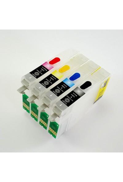 cescsor Epson T0891-T0894 Uyumlu Kartuş Dolum Seti - 4 Renk
