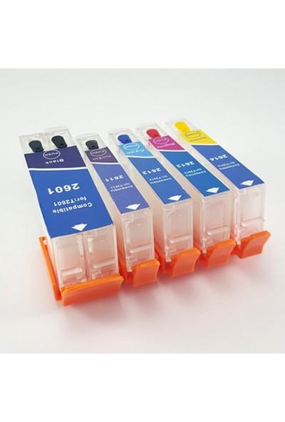 cescesor Epson T26XL Uyumlu Kartuş Dolum Seti - 5 Renk