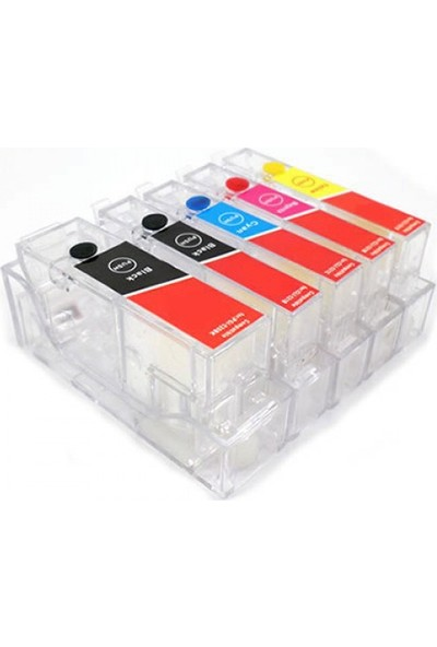 cescesor Canon PGI-520 CLI-521 Uyumlu Kartuş Dolum Seti - 5 Renk