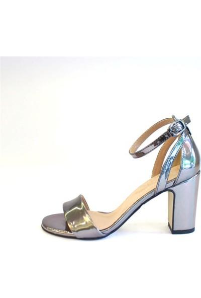 Shop and Shoes Bayan Sandalet Platin Ayna 122-1185