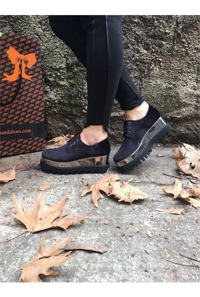 Shop and Shoes Bayan Ayakkabı Siyah Kadife 027-7410