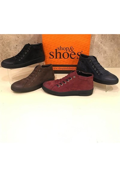 Shop and Shoes Erkek Bot Bordo Nubuk 093-71102