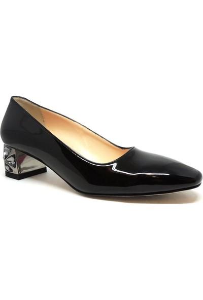 Shop and Shoes Bayan Ayakkabı Siyah Rugan 181-T8265