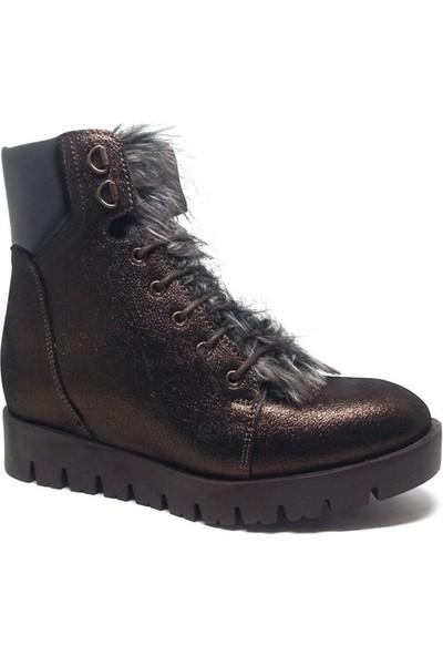 Shop and Shoes Bayan Bot Bakır Simli 121-1708006