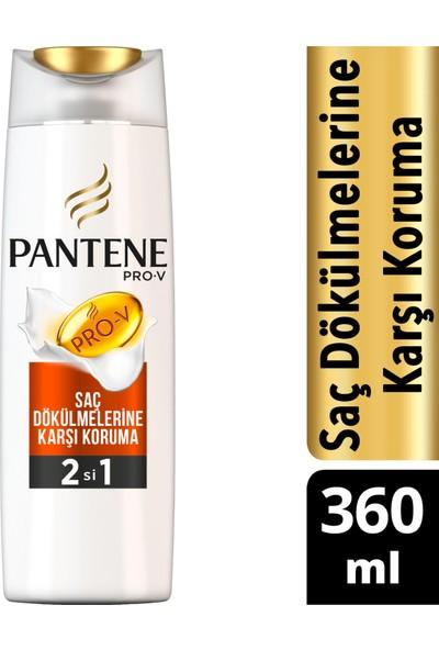 Pantene Saç Dökülmelerine Karşı Etkili 360 ml 2'si 1 Arada Şampuan ve Saç Bakım Kremi