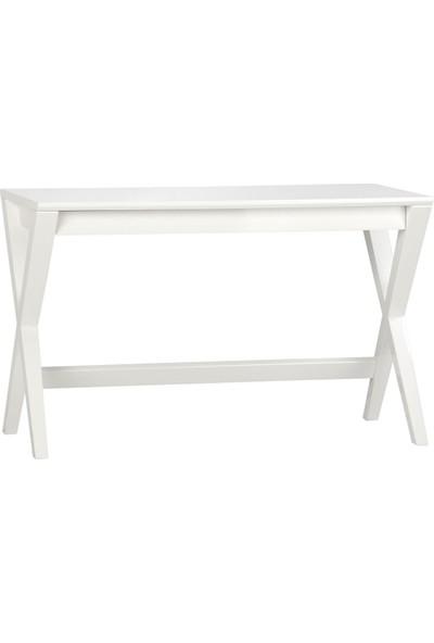 Evka Ahşap Çalışma Masası Beyaz